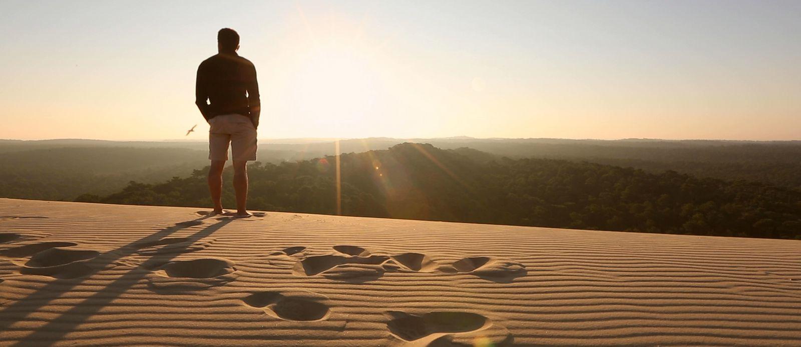 Escalader la dune du pilat l ge cap ferret - Lege cap ferret office de tourisme ...